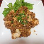 昨日に引き続き2度目の麻婆豆腐作りに挑戦してみた
