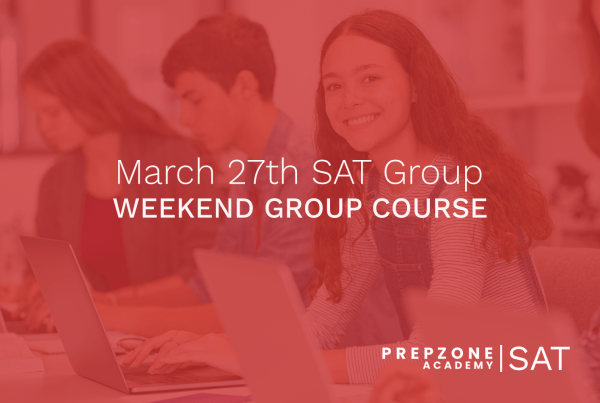 SAT Weekend Group Course Schedule - March 27th, 2021
