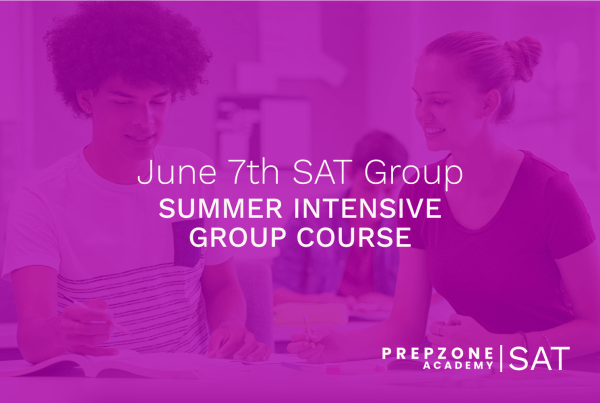 SAT Summer Intensive Group Course Schedule - June 7th, 2021