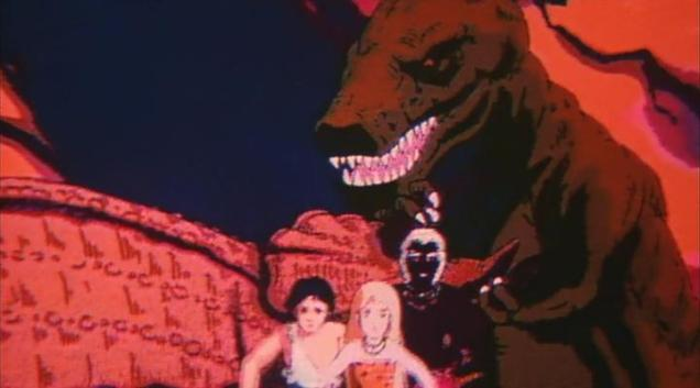 no terribad film would be complete without dinosaurs