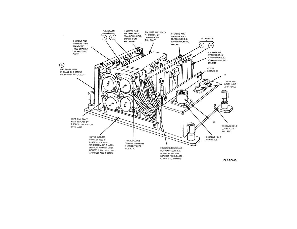 Figure 8-9. Alarm Monitor Power Supply, Disassembly Details.