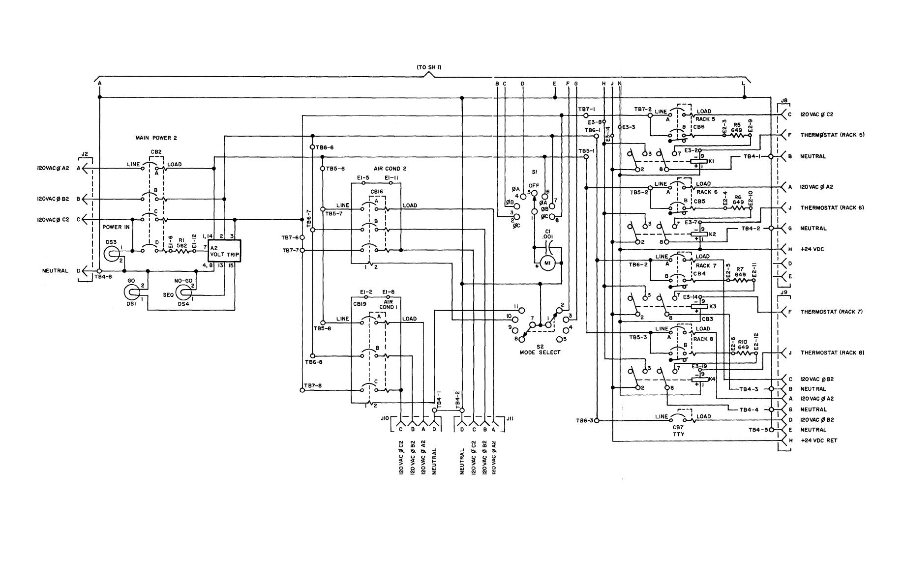 Figure FO-6. Power Distribution Panel, Schematic Wiring