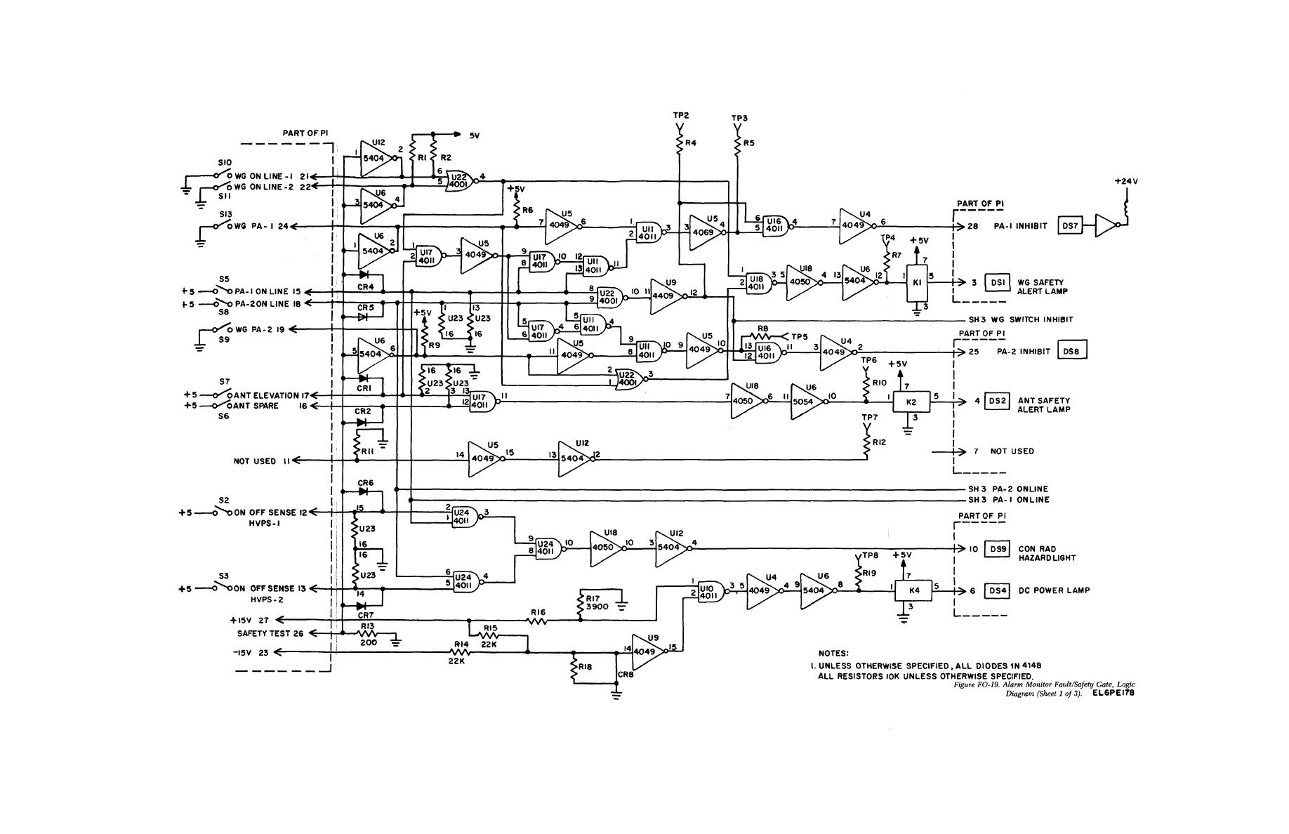 hight resolution of alarm monitor fault safety gate logic diagram sheet 1of 3
