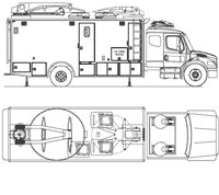 Uplink trucks, satellite trucks