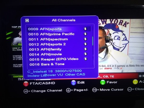 How To Track AFN Network On SES 5 At 5e Using 1 8 Dish