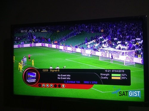 Signal-6 Frequency On Eutelsat 10A At 10E