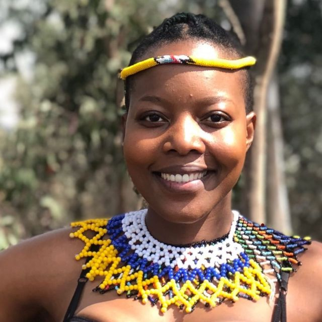"""Nomcebo Zikode, the voice behind the smash hit, says she didn't imagine the song would blow up the way it did. """"I am overjoyed but nervous at the same time. It still feels surreal that people all over the world are singing and dancing to a song that was sung by me. It's a huge blessing and I'm grateful,"""" she says."""