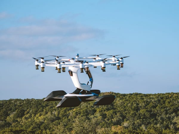 Austin startup Lift Aircraft created Hexa, a flying vehicle that looks like a drone.