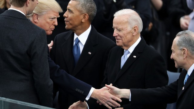 Donald Trump and Joe Biden each claim to be ahead in the US presidential election, even as the final outcome hangs on a razor's edge and both sides ramp up for legal action.