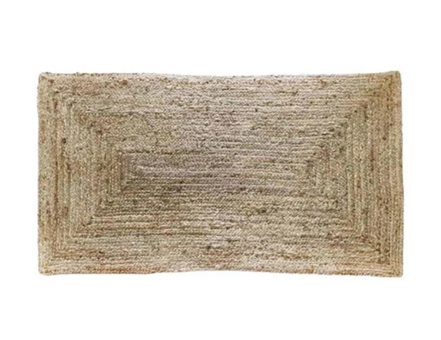 שטיח הודי מלבני חבלים בוהו שיק
