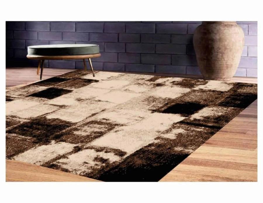 שטיח מודרני לסלון N1388A חום