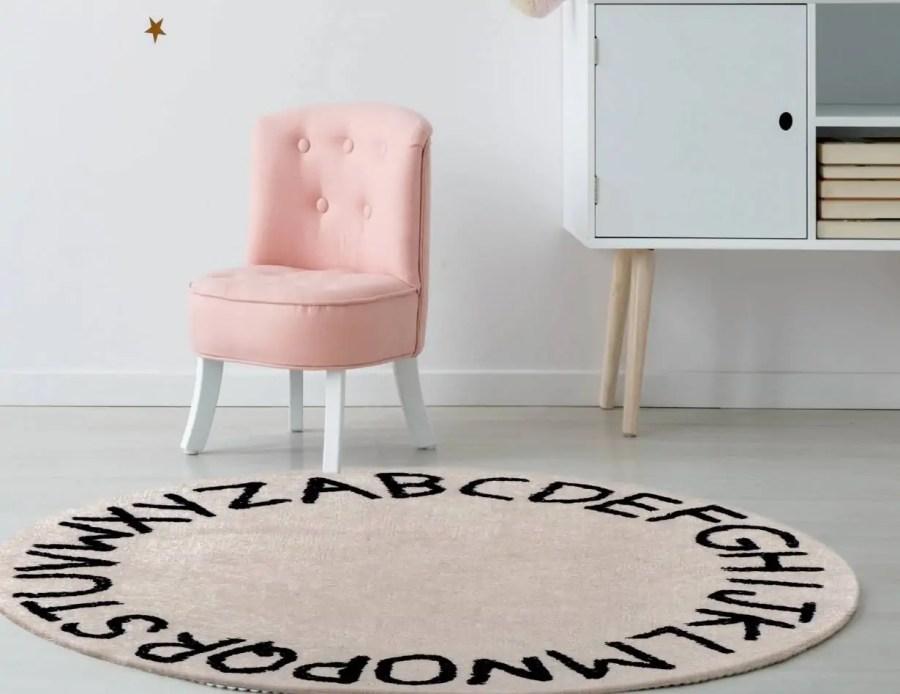 שטיח עגול כותנה ירדן