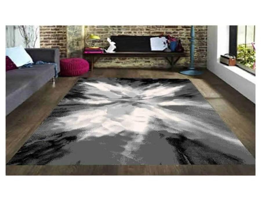 שטיח מודרני אפור שחור NO20