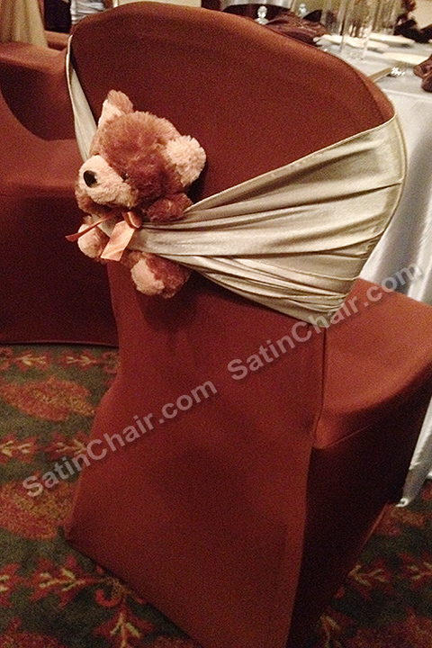 satin chair covers rental naperville il all weather outdoor table and chairs teddy bear event theme – baby shower in chicago | wedding & decor ideas