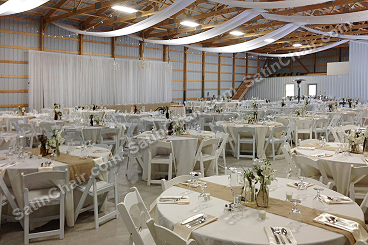 satin chair covers rental naperville il white wicker dining chairs rent burlap linens overlays runners sashes – rustic shabby chic winery event theme | wedding ...