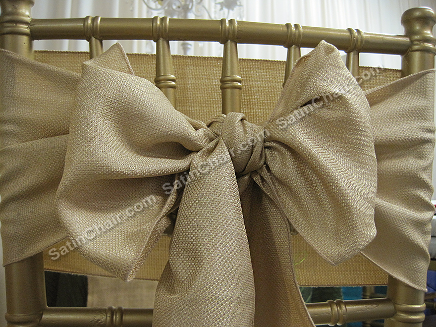 burlap chair covers ideas child size bean bag pattern rent linens overlays runners sashes rustic shabby chic fox valley naperville chicago barn wedding