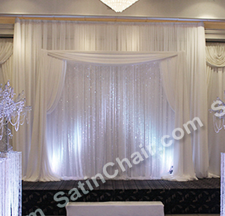 rent chair covers in chicago ergonomic reviews uk a winter wonderland icicle fairytale lights backdrop | wedding & event decor ideas