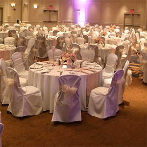 chair covers and tablecloth rentals patterned recliner cover pittsburgh pa satin sashes