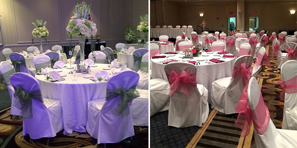 rent tablecloths and chair covers table wedding linen tablecloth rental services pittsburgh pa white with blue ribbon roses