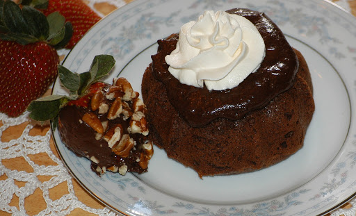 Grain-Free Chocolate Molten Cakes (DF version with Truffles & Chocolate Strawberries)