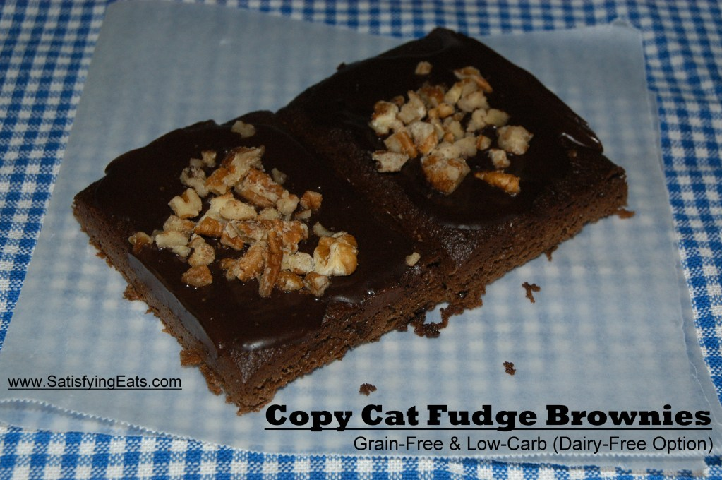 Copy Cat Little Debbie Brownies (Grain-Free & Low-Carb)