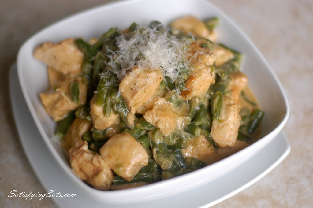 15-Minute Creamy Chicken with Green Beans