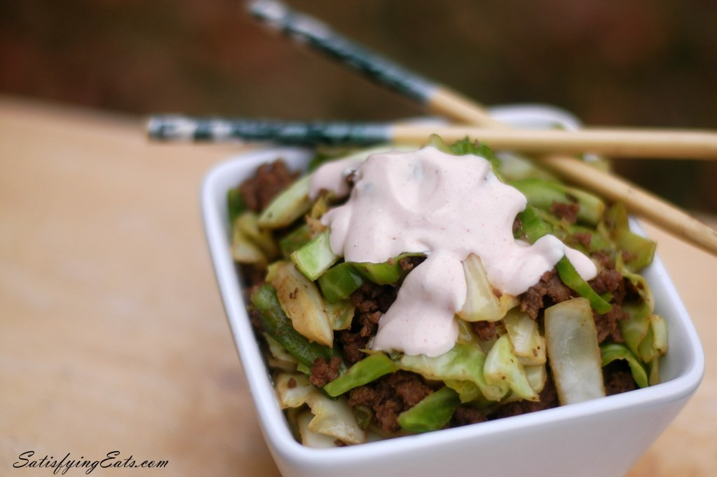 10-Minute Asian Fried Cabbage with Yummy Sauce