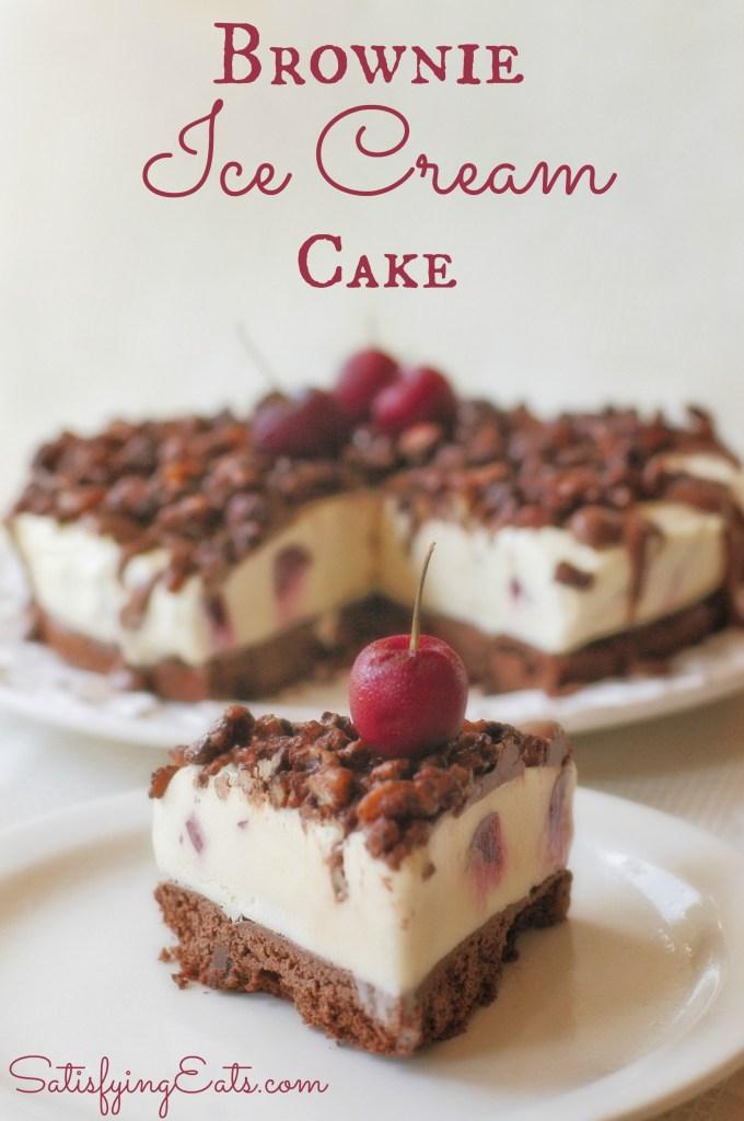 Brownies Ice Cream Cake Red