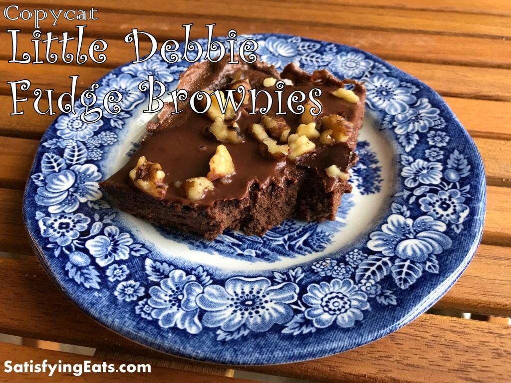 Copycat Little Debbie Fudge Brownies (Low-Carb/Keto/flourless)