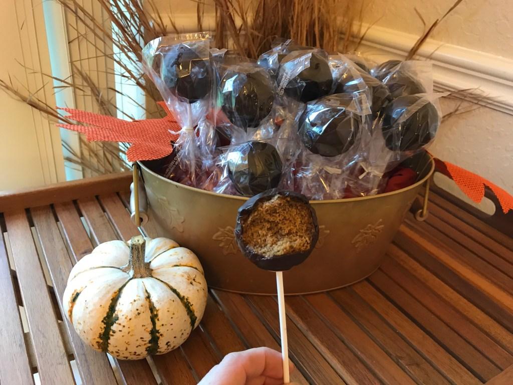 EASY Pumpkin Cake Pop Bouquet