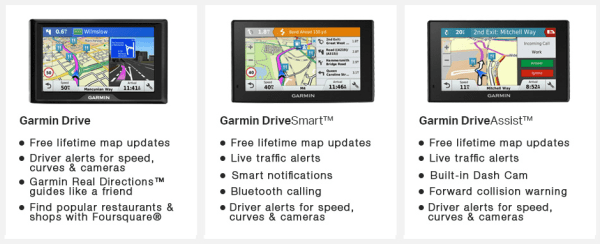 Garmin Drive, DriveSmart and DriveAssist - Compare all the features in our comparison chart