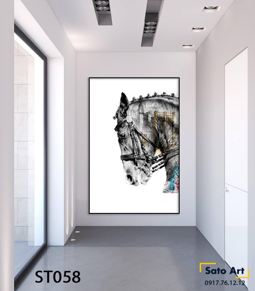 Tranh sơn dầu ngựa