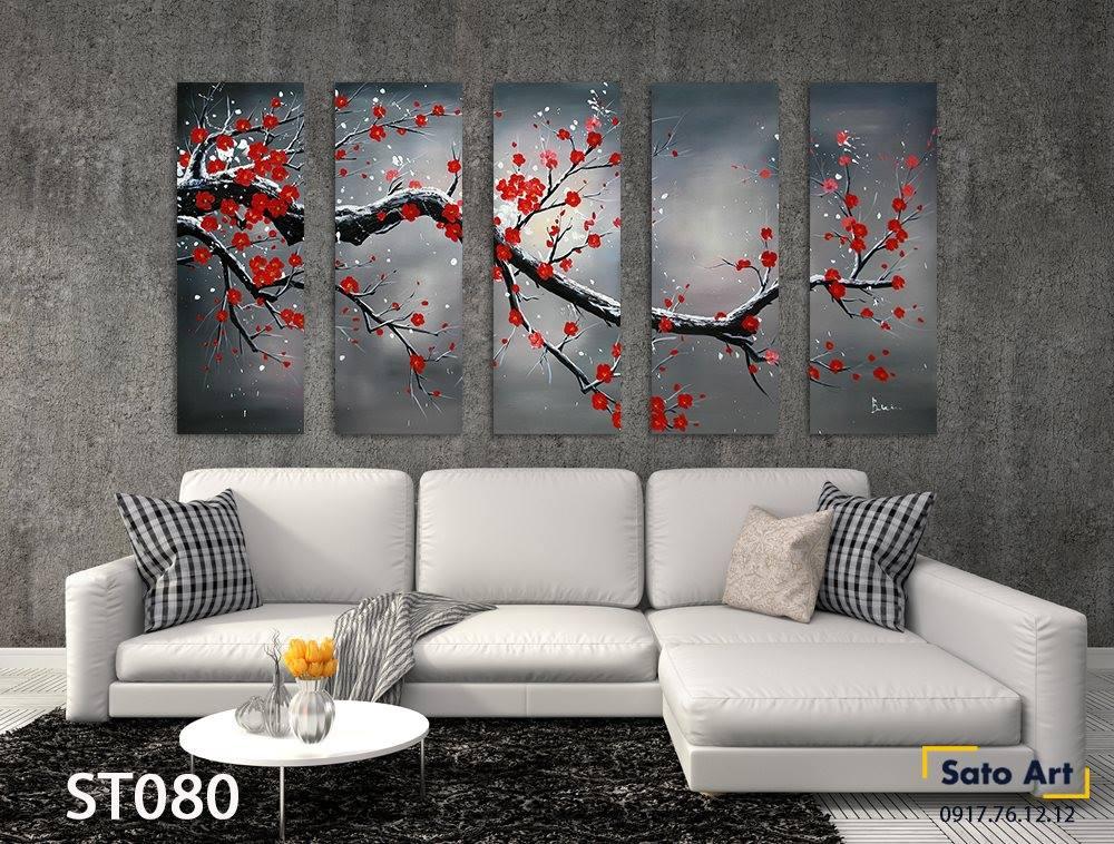 Trang tường đẹp sơn dầu