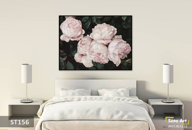 Tranh sơn dầu hoa hồng