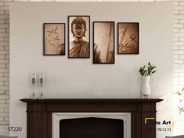 Bộ 4 tranh Phật tịnh tâm