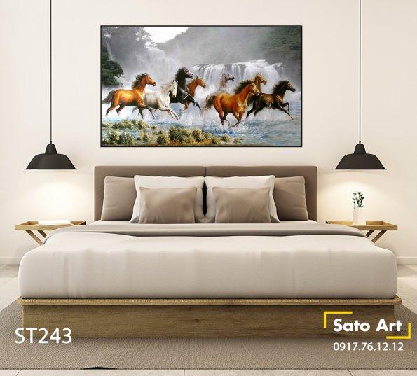 tranh son dau bat ma