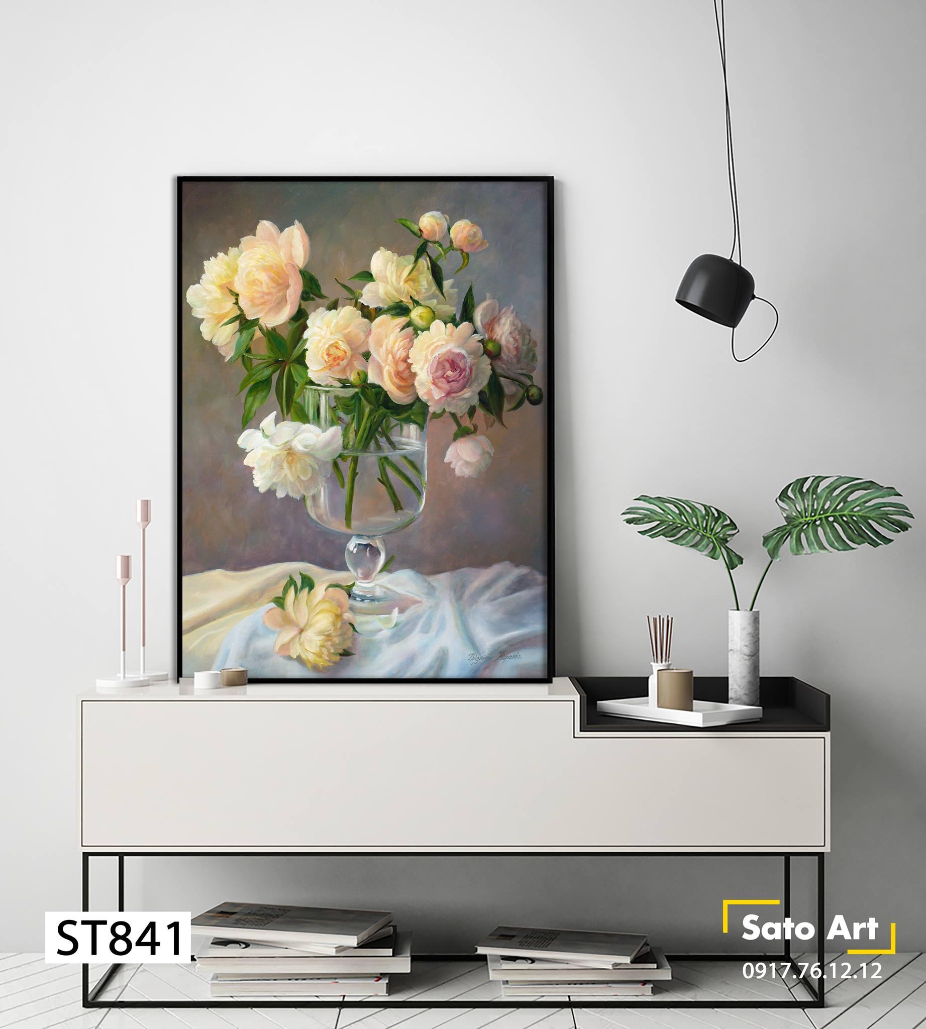 Mua tranh hoa hồng