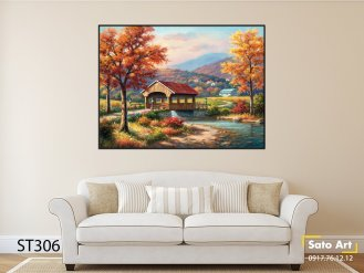 Tranh tường phong cảnh sơn dầu