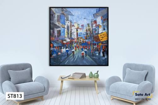 Tranh phong cảnh con phố