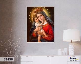 Tranh sơn dầu Đức Mẹ