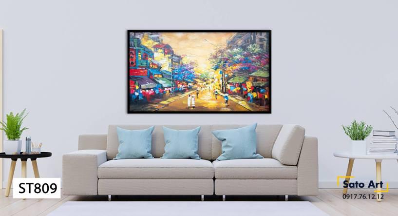 Tranh sơn dầu đường phố đà nẵng