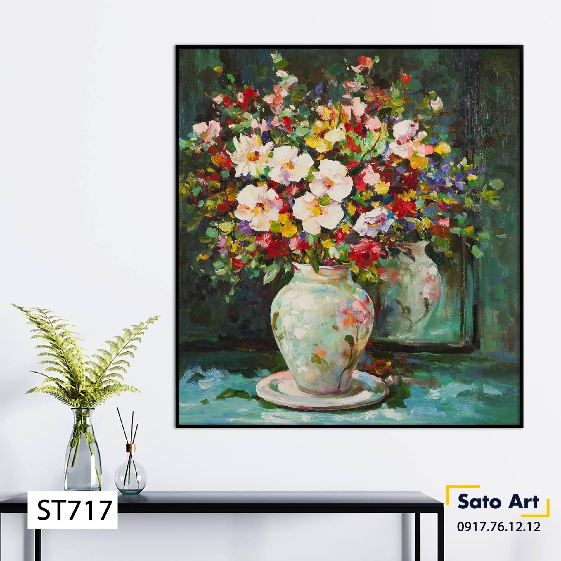 Mẫu tranh hoa đẹp
