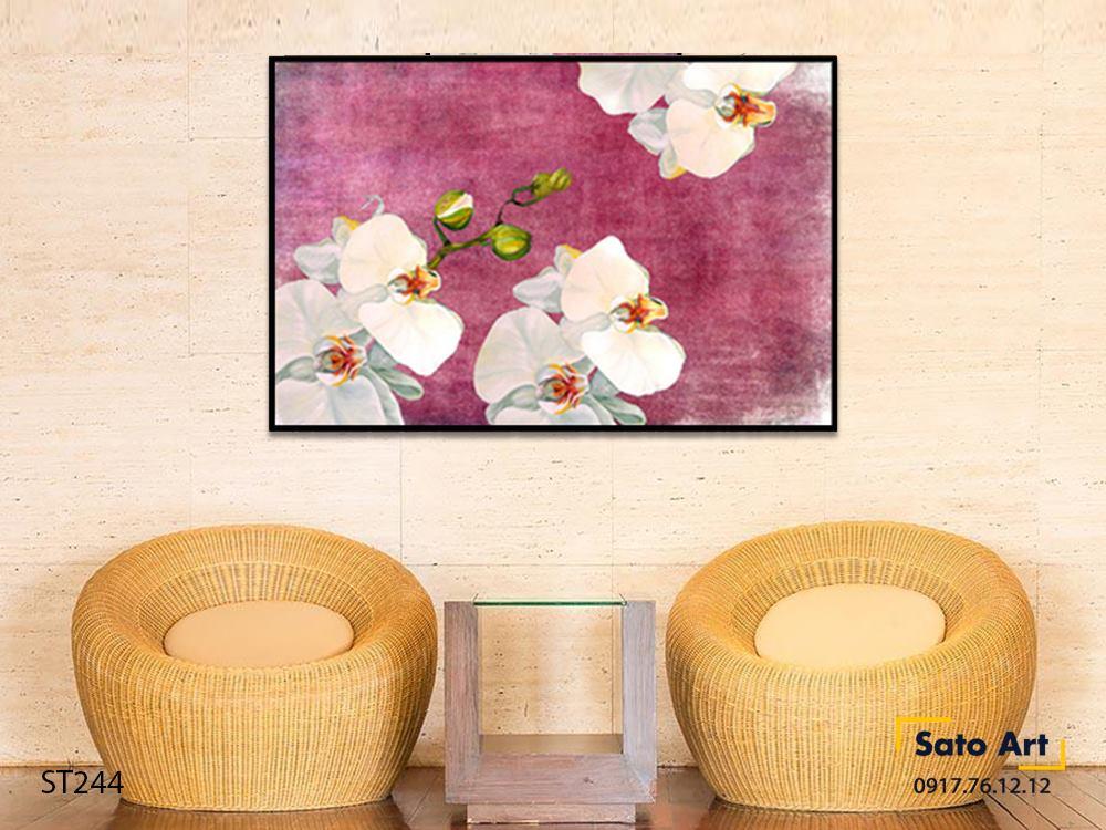 Tranh sơn dầu hoa lan
