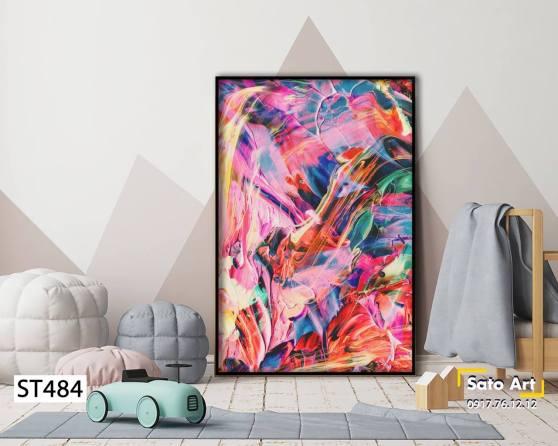 Tranh nghệ thuật sắc màu rực rỡ