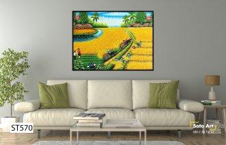 bức tranh về lúa quê hương