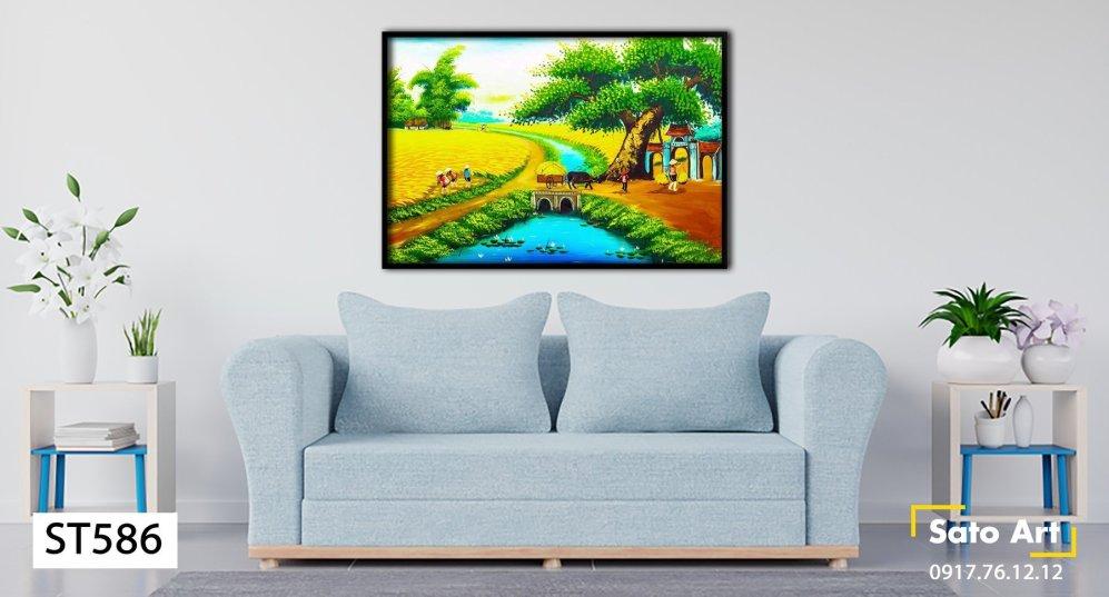 Bức tranh về phong cảnh quê hương