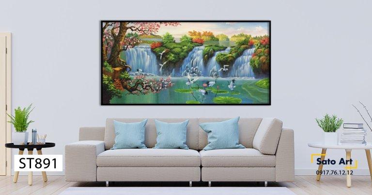 tranh sơn dầu phong cảnh đẹp nhất