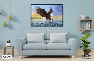 Tranh sơn dầu đại bàng trên biển