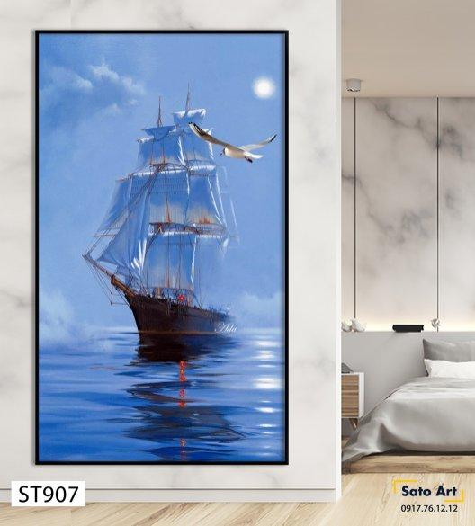 Bán tranh thuyền buồm
