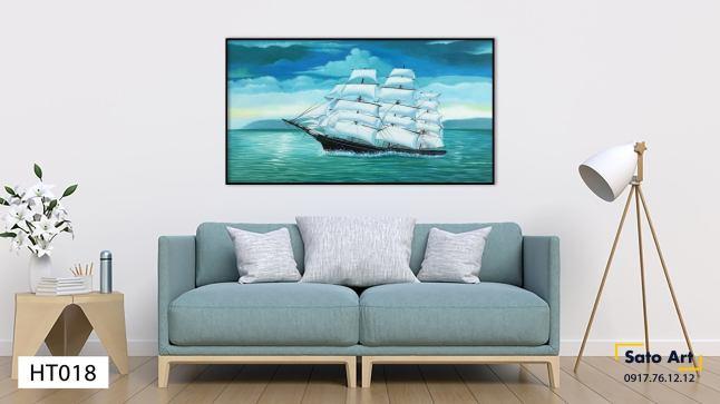 Tranh phong cảnh thuyền biển